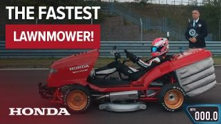 Fastest Lawnmower with Guinness World Records™! Honda Mean Mower reaches 100mph in 6.285 Seconds